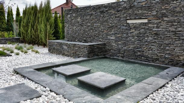 Woda i Kamień w ogrodzie