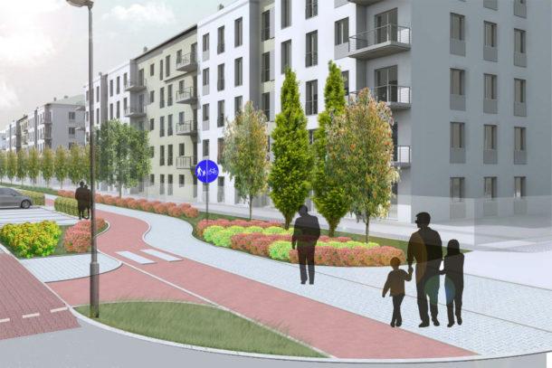 Projekt ulicy Polskich Marynarzy wraz z niezbędną infrastrukturą