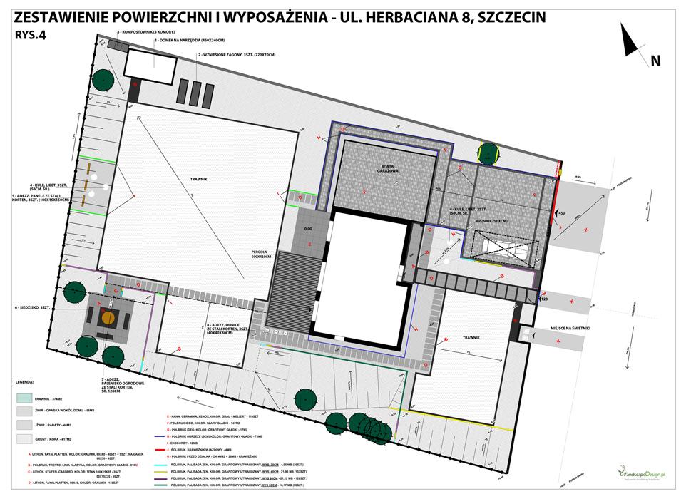 Ogród Płonia - Plan ogrodu